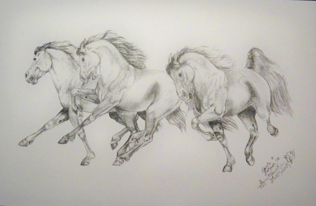 Realistic horse running drawings easy drawings of horses running