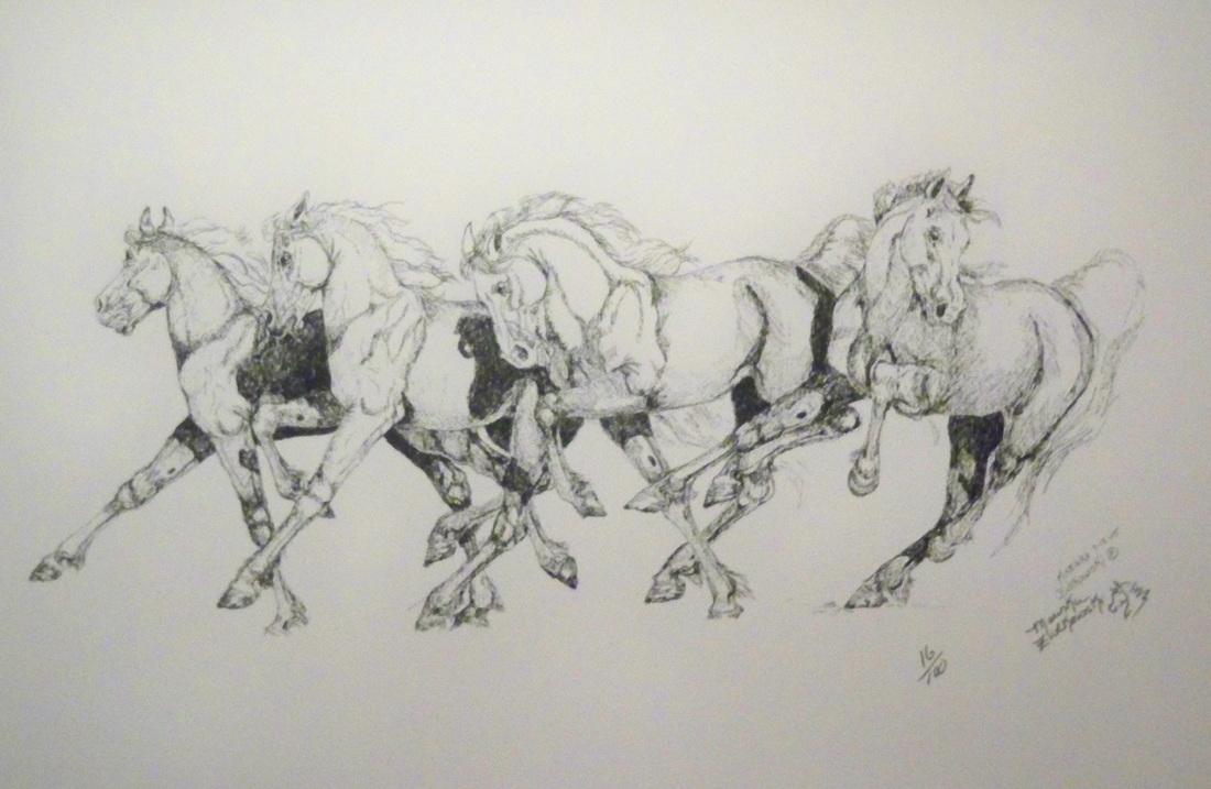 Horses running drawing - photo#15